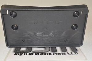 2013-2017 Buick Enclave Front License Plate Black Bracket new OEM 22757026
