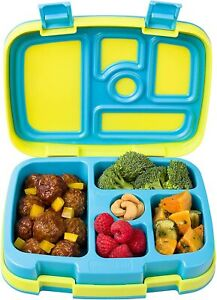 Bentgo Kids 5-Compartment Bento-Style School Lunch Box Leak-Proof Durable Yellow