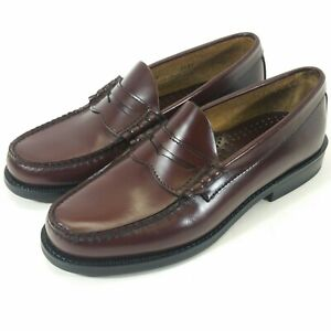 Bass  Burgundy Slip On Men's Leather Penny Loafers Shoes Size 7 M