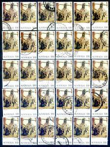 Australia 1977 Paintings $10 fine to very fine used x 50 copies (2020/10/15#01)