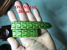 20mm GENUINE GREEN ALLIGATOR CROCODILE HORNBACK LEATHER WATCH BAND STRAP