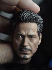 1/6 Scale Iron Man Tony Stark Robert Downey Jr Head Sculpt