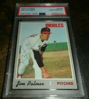 1970 TOPPS #449 JIM PALMER BALTIMORE ORIOLES HOF SIGNED PSA/DNA AUTO