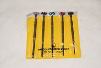 SET OF 5 JEWELERS PHILIPS SCREW DRIVER SET NEW  WATCH / HOBBY TOOLS