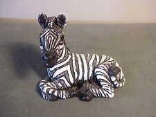 Vintage 1987 Stone Critter Lying Down Baby Zebra Figurine - Sc235 #1
