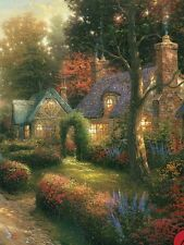 "Thomas Kinkade ""COBBLESTONE LANE 1"" Cottages Village BOXLESS Puzzle *100%*"