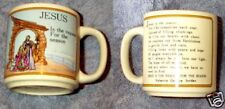 Vintage Lefton Christmas Mug 1988,Jesus Is The Reason For the Season,Jordan Poem