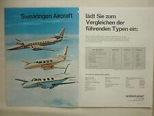 8/1970 PUB SWEARINGEN AIRCRAFT SAN ANTONIO MERLIN IV III MERLIN IIB GERMAN AD