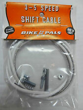3 or 5  Speed Bike Gear Shift Cable for Shimano Twist Shift Grip Shifter White