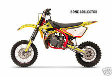 Dirt Bike Graphics Kit decal Sticker Wrap For Cobra CX50 2007-2012 BONES YELLOW