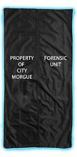 Coroners Body Bag Human Halloween Prop Decoration Black Zipper Sack FULL SIZE