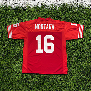 JOE MONTANA #16 RED AUTHENTIC THROWBACK JERSEY