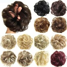 Elastic Chignon Hairpiece Messy Curly Bun Wavy Natural Hair Extension Scrunchie