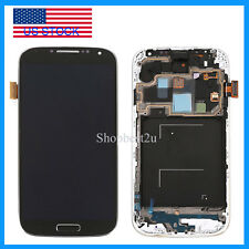 Black For Samsung Galaxy S4 i337 M919 i9500  LCD Touch Digitizer Display Frame
