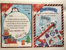 XMAS LETTER TO SANTA & LETTER FROM SANTA 2 PACK & PENCIL STICKERS DOOR HANGER
