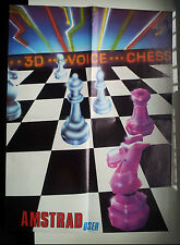 3D VOICE CHESS - KNIGHT LORE - ALIEN 8 / VINTAGE POSTER AMSTRAD CPC / SPECTRUM