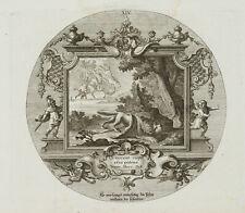 PROBST(*1721), Emblem, Sturz des Phaeton, Seneca, um 1750, Kupferstich