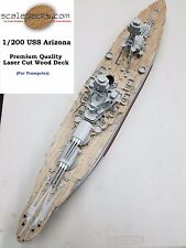 Wood Deck for 1/200 USS Arizona for Trumpeter kit by Scaledecks.com