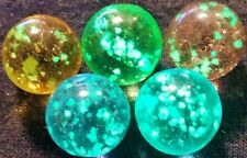 5 Color Glow in the Dark Inside Speckles Glass Marbles 5/8