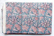 Hand Block Print Pure Cotton Fabric Sanganeri Running 10 Yard Indian Multi New
