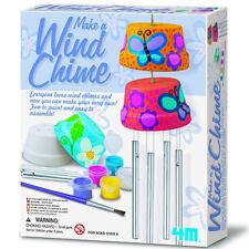 Art Craft Wind Chime Kit Kids DIY Terra Cotta Hanging Paint Brush Children Porch