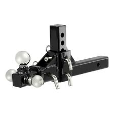 """CURT Adjustable Tri-Ball Ball Mount for 2"""" Trailer Hitch Receiver 45799"""