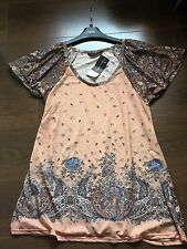Dorothy Perkins Terracota Patterned Short Sleeved Ladies T-Shirt UK Size 14