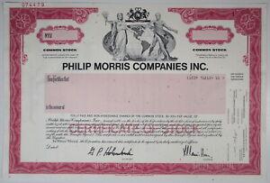 2002 PHILIP MORRIS COMPANIES INC. Stock Certificate SPECIMEN Marlboro