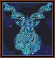ASTRO - CAPRICORN ~ cross stitch pattern PDF (point de croix)