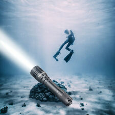 9000LM IPX8 LED Waterproof Flashlight for Diving Rechargeable Scuba Dive Lights