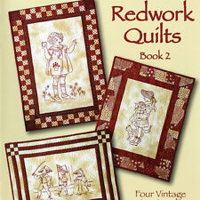 NEW BOOK: Redwork Quilts Book 2: Four Vintage Redwork Designs
