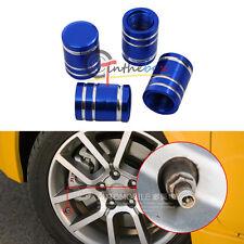 (4) Metal Blue Cup Tire Wheel Valve Dust Caps Wheel Valve Caps Air Dust