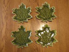 Set 4:Pottery Barn Leaf Shaped Plates-Appetizer,Dessert,Small Tray/Platter-New