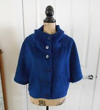 VINTAGE LISA HO Jacket, Coat, CAPE Size 10 Blue 60% Wool Australian Made