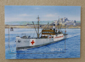 2013 JERSEY RED CROSS & RED CRESENT STAMP MINI SHEET MINT