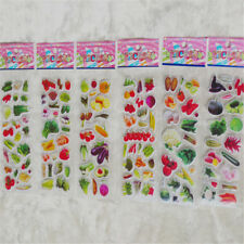5 Sheets Various Vegetables Bubble Stickers Cartoon Scrapbooking Sticker Fw