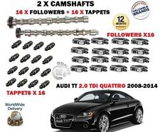 FO AUDI TT 2.0 TDi 2008-> NEW 2X CAMSHAFT CAM SET + 16 X FOLLOWER + 16X TAPPETS