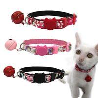 Pet Kitten Adjustable Decorative Collar with Bell Puppy Cat Safe Buckle Necktie