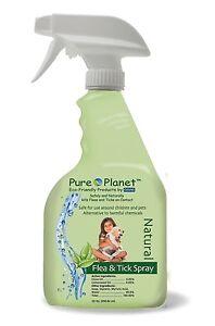 Davis Pure Planet Eco Friendly Natural Flea and Tick Spray for Pets 22 Oz.