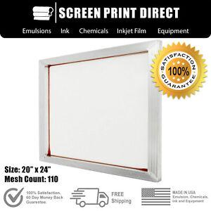"Ecotex® Aluminum Frame Screen For Screen Printing 20"" x 24"" - 110 White Mesh"