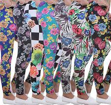 Damen Leggings Legings Leggins Legins Hose Blumen Foral Muster Blumenmuster ★ 1r