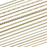 echte 333-585-750r gelb GOLD KETTE PANZERKETTE SINGAPUR FIGARO Halskette Collier