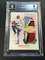 SHOHEI OHTANI 2018 PANINI FLAWLESS #20 DUL PATCH GOLD ROOKIE RC /10 BGS 9 ANGELS