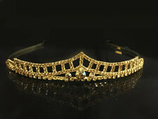 Elegant Gold Plated Crystal Rhinestone Crown Tiara Wedding Prom Bride's Headband