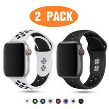 2 упаковка силиконовые спортивные ремешок для Apple, часы, 6, 5, 4, 3 38/40/42/44 мм iWatch Se