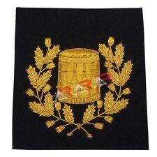 Pipe Major Drummer Arm Blazer Hand Embroidered Badge Gold Bullion Wire Emblem