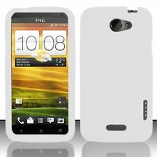 Silicone Skin Case for HTC One X - White