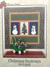 Thimbleberries Christmas Street Snowmen Wall Quilt Kit 50X52