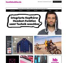 Onlineshop für Bekleidung mit eingebauten Kopfhörern, Alleinstellungsmerkmal