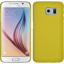Hardcase Samsung Galaxy S6 rubberized yellow Cover + protective foils